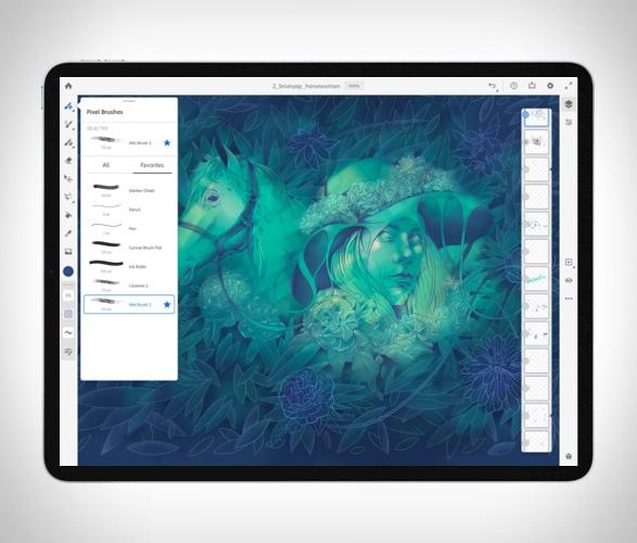 Novo Aplicativo de Desenho e Pintura para IPAD - ADOBE FRESCO - Imagem - 5
