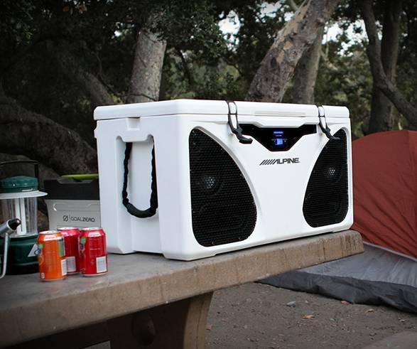 Sistema de Refrigerador e Alto-falante ICE Alpine - Imagem - 5