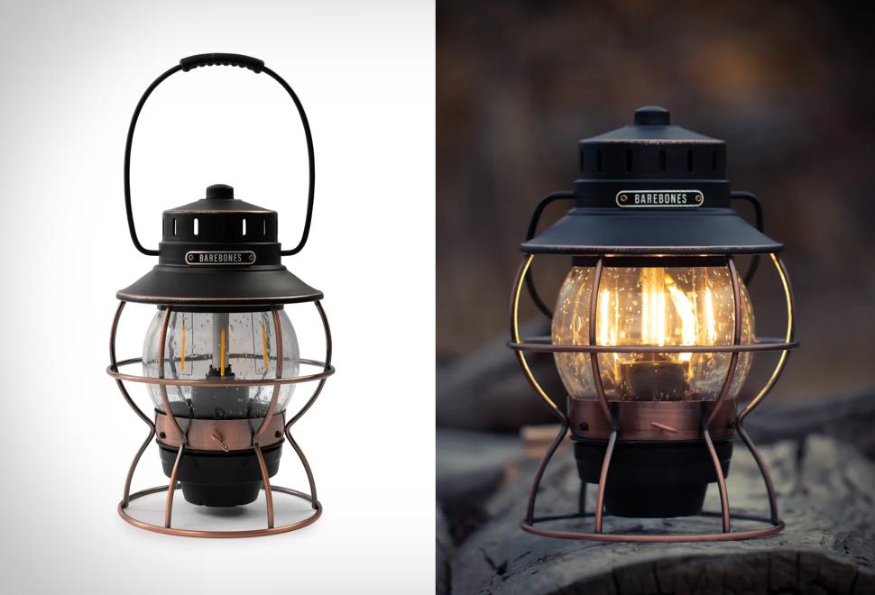 Lanterna com Estilo Vintage e Tecnologia Moderna - BAREBONES RAILROAD LANTERN - Imagem - 1