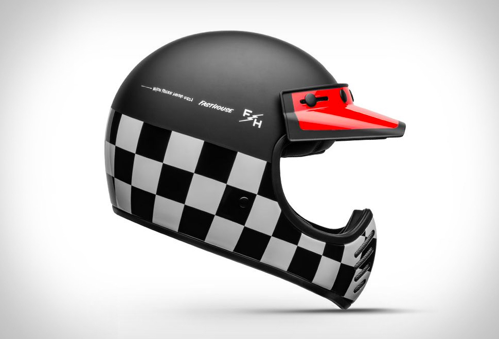 CAPACETE BELL MOTO-3 FASTHOUSE CHECKERS HELMET