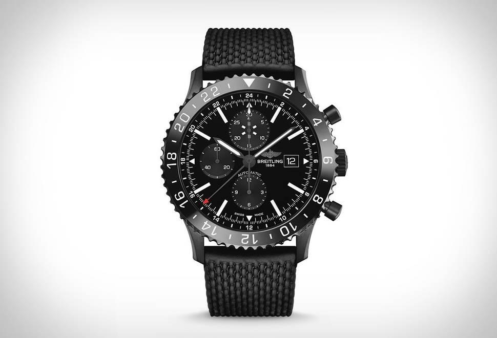 Relógio Chronoliner Blacksteel   Breitling