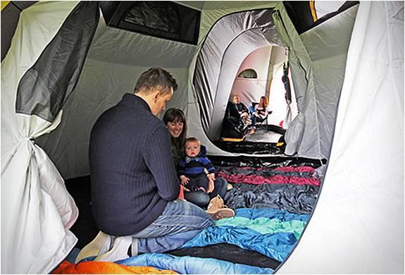 Sistema de Acampamento com Tendas Conectadas - Imagem - 4