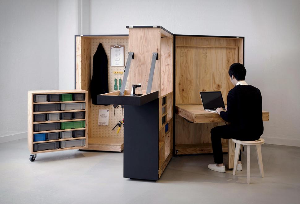 Escritório doméstico móvel que vem em uma caixa - DIY Office Box - Imagem - 1