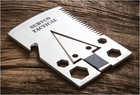 FERRAMENTA DE SOBREVIVÊNCIA COM 21 FUNÇÕES - SURVCO TACTICAL CREDIT CARD AX - Imagem - 2