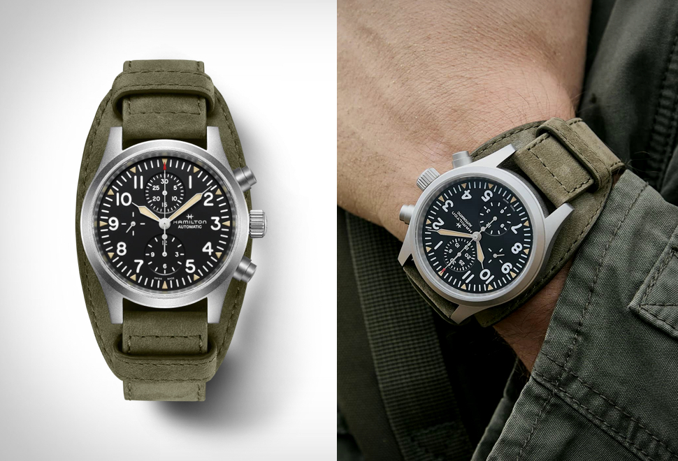 Relógio Militar Masculino - Hamilton Khaki Field Auto Chrono Watch - Imagem - 1