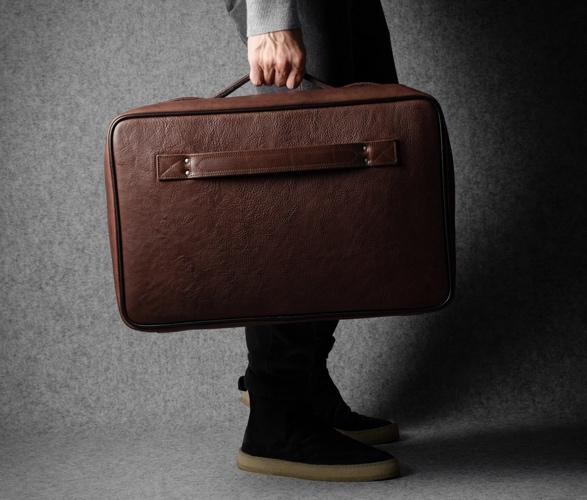 Bolsa Elegante de Couro Com Forro de Lã Incrível e Luxuoso - HARDGRAFT CARRY ON SUITCASE - Imagem - 4