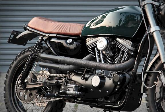 Moto Personalizada Harley Davidson Scrambler H-1 - Imagem - 4