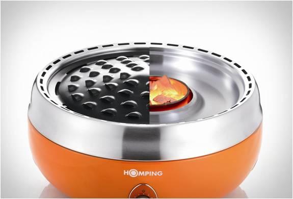 Grelhador Homping o mesmo sabor de churrasco na brasa feito com carvão mas sem a fumaça - Imagem - 2