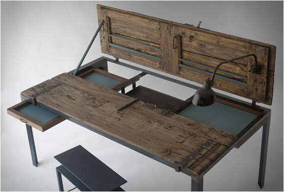 MESA ANTIGA RECICLADA - INDOOR TABLE - Imagem - 2