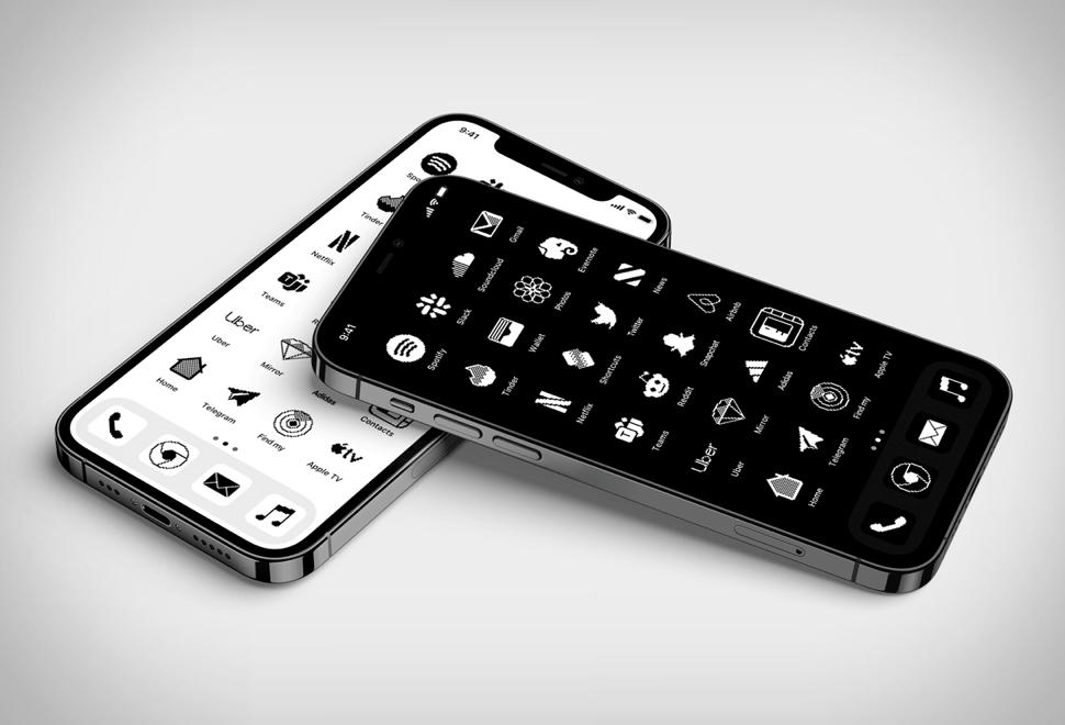 Ícones da tela inicial do iPhone - iOS Retro Icon Set - Imagem - 1