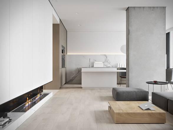 Arquitetura - Apartamento Minimalista Bachelor - Imagem - 2