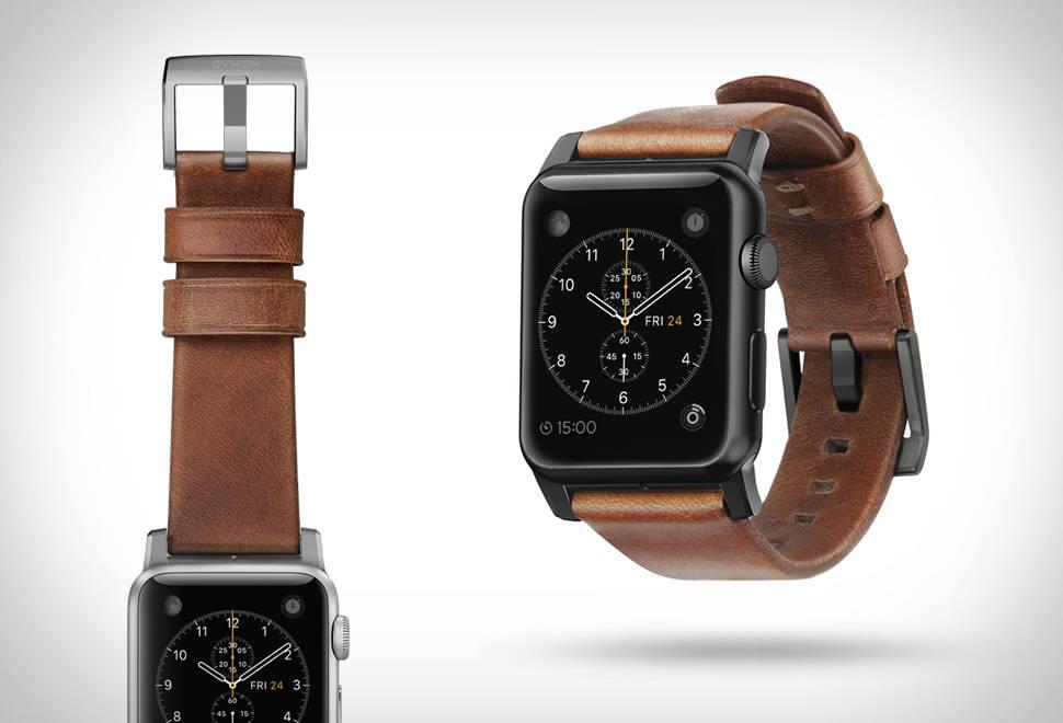 Pulseira em Couro para Apple Watch