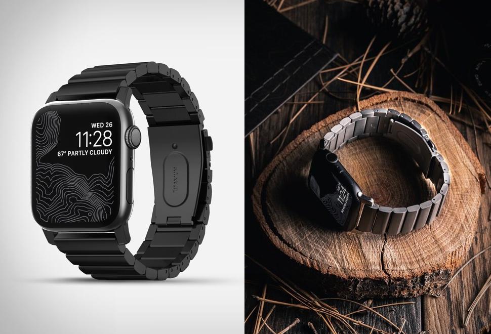 Pulseira de metal para Apple Watch - NOMAD TITANIUM BAND
