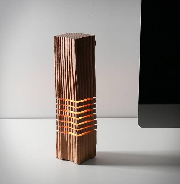 Luminária com Madeira Recuperada - Imagem - 2