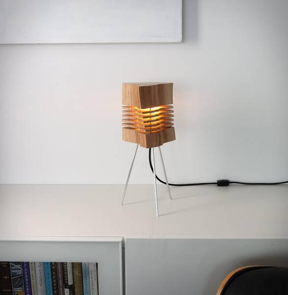 Luminária com Madeira Recuperada - Imagem - 3