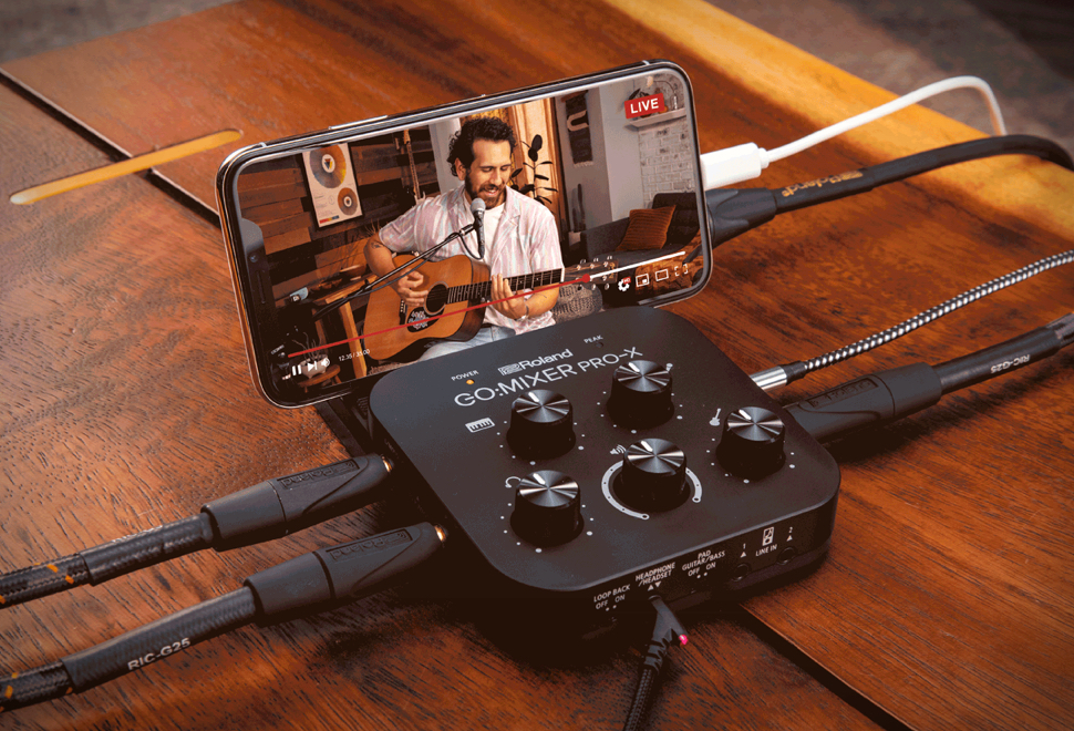 Mixer de Áudio Compacto de Qualidade Profissional - Roland GO:MIXER PRO-X - Imagem - 1