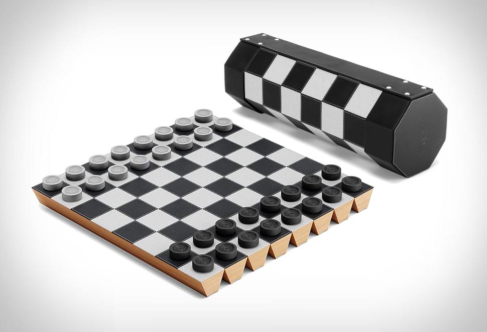 Jogo de Xadrez e Damas Portátil - Imagem - 1