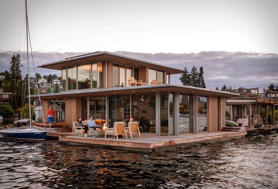 Casa Flutuante Moderna e Contemporânea - SEATTLE WATER CABIN - Imagem - 1
