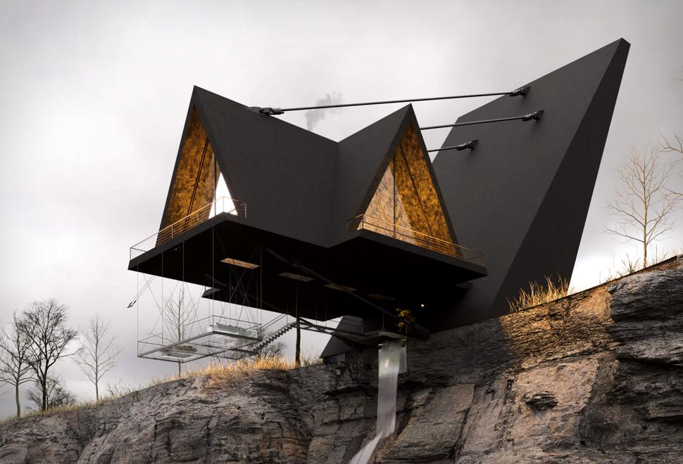 Casa Flutuante Espetacular - SUSPENDED HOUSE - Imagem - 1