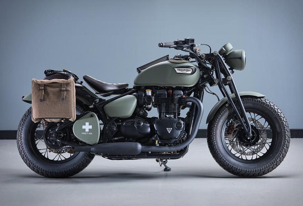 Moto Comemorativa - Triumph Bonneville VE Day Commemorative Bike - Imagem - 1