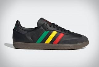 Homenagem a Bob Marley - Adidas Samba OG Three Little Birds