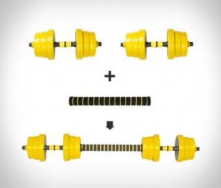 Halteres para Musculação - DJUSTABLE DUMBBELL BARBELL - Imagem - 3