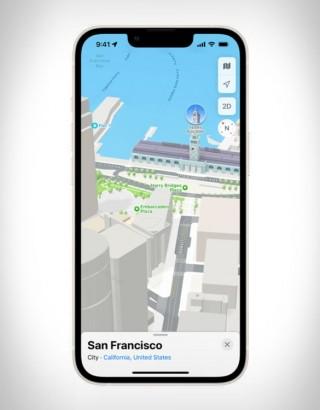 Experiência Tridimensional - Apple Maps 3D View - Imagem - 3