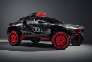 Carro de Rally da Audi E-Tron Feito para o Rally Dakar