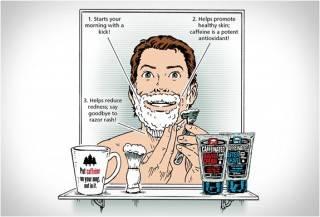 Conjunto de Barbear Cafeinado - Imagem - 4