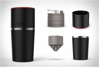 Cafflano - máquina de café portátil com moedor