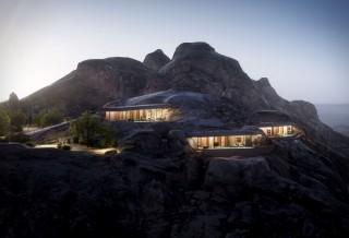 Novo Resort nas Montanhas da Arábia Saudita - DESERT ROCK HOTEL