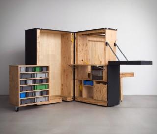 Escritório doméstico móvel que vem em uma caixa - DIY Office Box - Imagem - 2