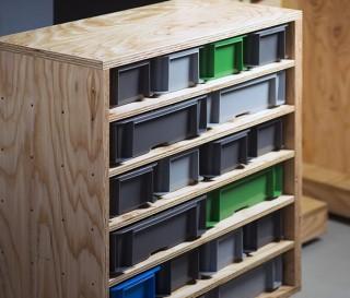 Escritório doméstico móvel que vem em uma caixa - DIY Office Box - Imagem - 5