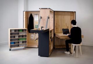 Escritório doméstico móvel que vem em uma caixa - DIY Office Box