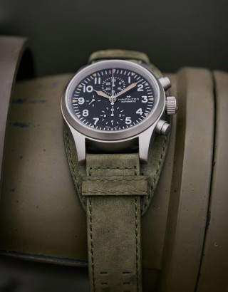 Relógio Militar Masculino - Hamilton Khaki Field Auto Chrono Watch - Imagem - 2