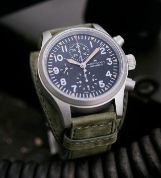 Relógio Militar Masculino - Hamilton Khaki Field Auto Chrono Watch - Imagem - 5