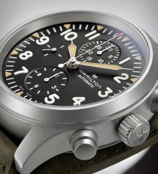 Relógio Militar Masculino - Hamilton Khaki Field Auto Chrono Watch - Imagem - 3