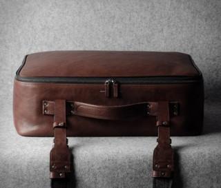 Bolsa Elegante de Couro Com Forro de Lã Incrível e Luxuoso - HARDGRAFT CARRY ON SUITCASE - Imagem - 3