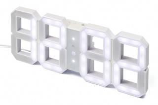 RELÓGIO DIGITAL DE PAREDE RETRO - WHITE & WHITE LED CLOCK