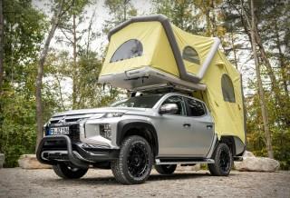 Tenda Inflável transformando a sua picape em um trailer