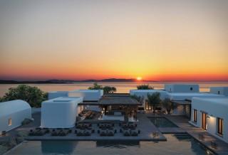 Localizado em Mykonos, o magnífico Kalesma Hotel