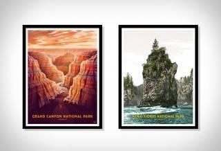 Cartazes - Série Impressão de Parques Nacionais