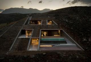 Casa Espetacular na Encosta da Grécia - nCAVED House