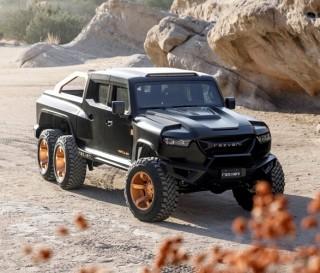 Caminhonete pickup - Rezvani Hercules 6x6 - Imagem - 4