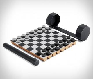 Jogo de Xadrez e Damas Portátil - Imagem - 2