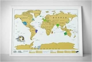 MAPA MUNDO COM OS LUGARES QUE VOCÊ JÁ VISITOU - SCRATCH OFF WORLD MAP - Imagem - 2