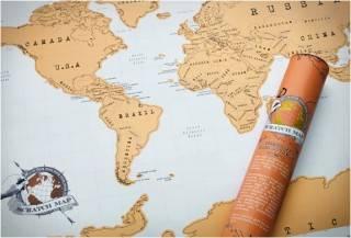 MAPA MUNDO COM OS LUGARES QUE VOCÊ JÁ VISITOU - SCRATCH OFF WORLD MAP - Imagem - 4