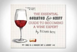 Livro Risco & Guia em Vinhos | Scratch & Sniff Wine Guide