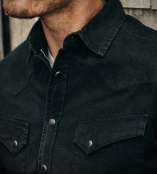 Camisa Preta Estilo Americana - TAYLOR STITCH WESTERN SHIRT - Imagem - 4