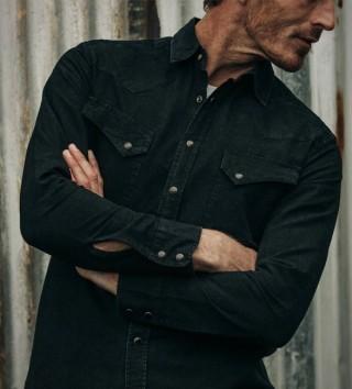 Camisa Preta Estilo Americana - TAYLOR STITCH WESTERN SHIRT - Imagem - 3